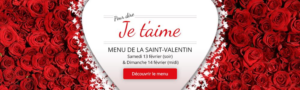 Menu St Valentin au restaurant Aux Lys d'Or à Réalville